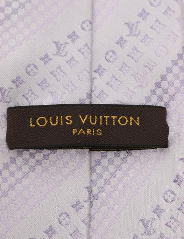 LOUIS VUITTON (ルイヴィトン) ネクタイ モノグラム柄 シルク 薄紫