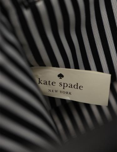 kate spade・バッグ・コブルヒル スモール ハンドバッグ ショルダーバッグ レザー 黒 水色 アイボリー 2WAY
