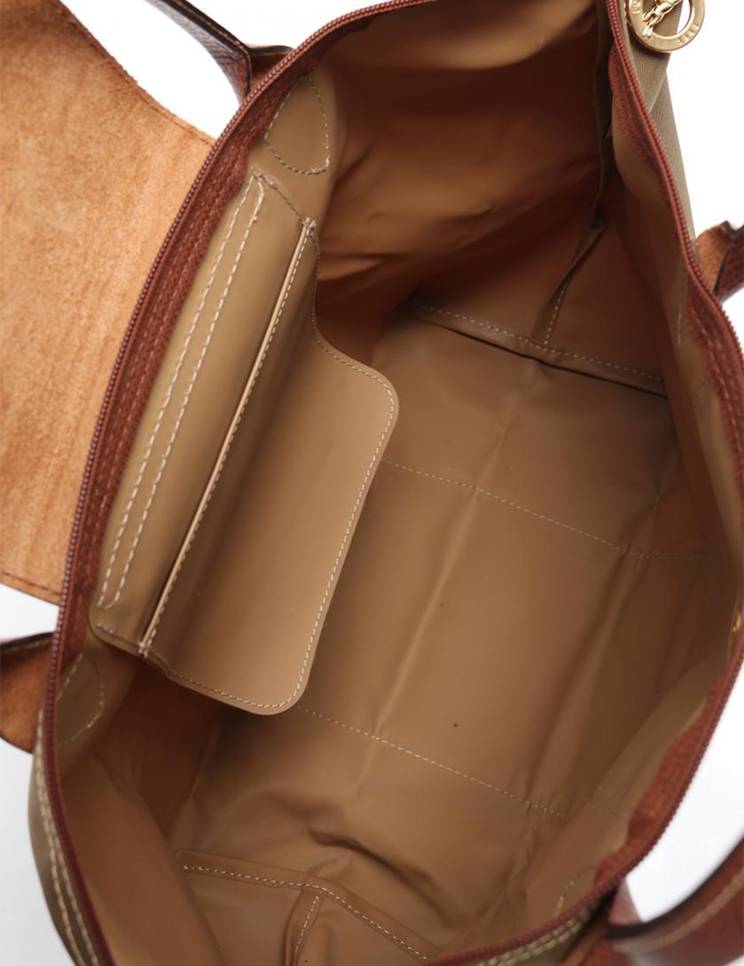 9fbd1cdf19f4 LONGCHAMP(ロンシャン)ル プリアージュ トートバッグ ナイロン カーキ アイボリー|中古ブランド通販のRECLO