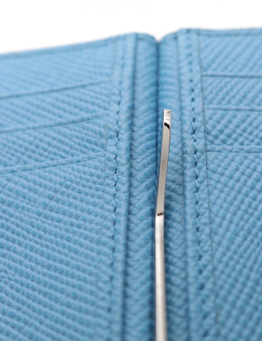 42f72e4405ae PRADA(プラダ)SAFFIANO CUIR B マネークリップ 二つ折り札入れ サフィアーノレザー ネイビー 中古ブランド通販のRECLO