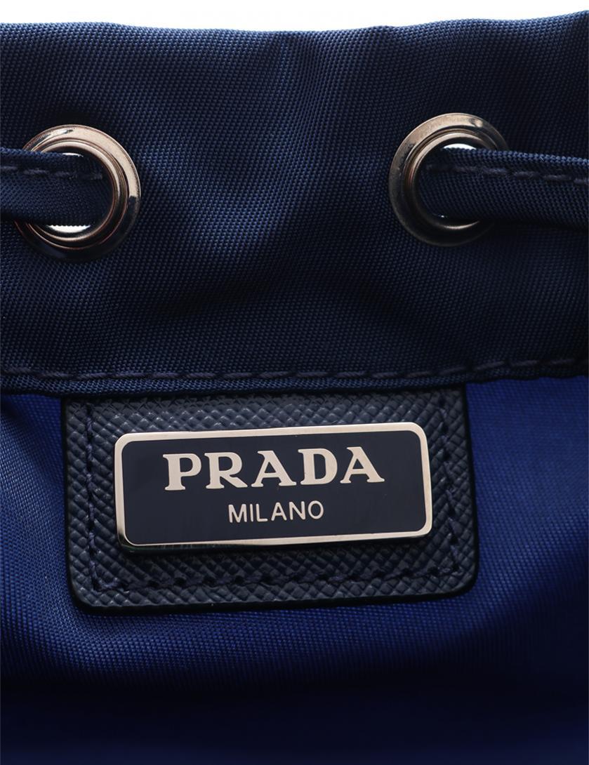 f99faf084ebf PRADA(プラダ)巾着ポーチ ナイロン レザー ネイビー|中古ブランド通販のRECLO
