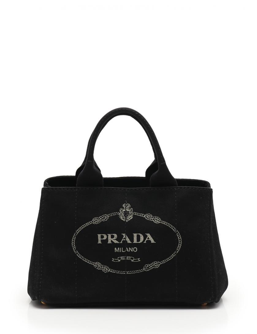 PRADA・バッグ・CANAPA カナパ  トートバッグ ショルダーバッグ キャンバス 黒