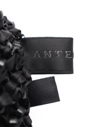 ANTEPRIMA・バッグ・NEW CRISTALLO FIOCCO ワイヤーバッグ ハンドバッグ PVC ナイロン 黒 リボン 2WAY