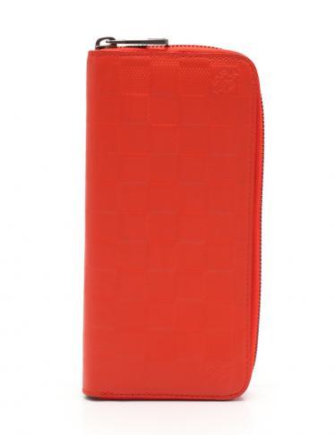 best loved 63c5e 47383 LOUIS VUITTON(ルイヴィトン)ジッピーウォレット ヴェルティカル ダミエアンフィニ ラウンドファスナー長財布 レザー  赤|中古ブランド通販のRECLO