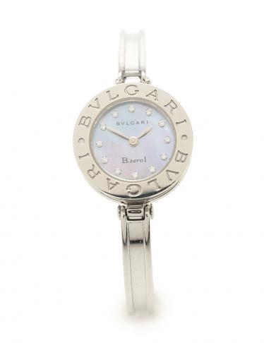 big sale f0294 1d67f BVLGARI(ブルガリ)B-ZERO1 ビーゼロワン 腕時計 レディース クオーツ SS シェル ダイヤモンド シルバー ネイビー ネイビー文字盤  12Pダイヤ|中古ブランド通販のRECLO