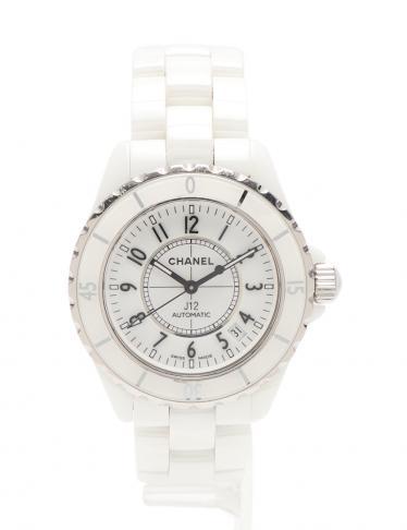 finest selection 02924 36c65 CHANEL(シャネル)J12 メンズ 腕時計 自動巻き セラミック SS 白 38mm 中古ブランド通販のRECLO