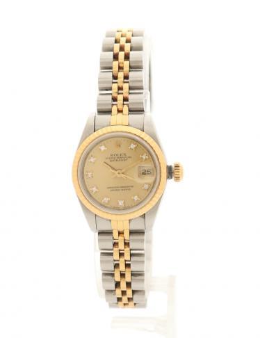 official photos 581ec 94ca8 ROLEX(ロレックス)デイトジャスト レディース 腕時計 自動巻き SS K18YG シルバー ゴールド 10Pダイヤ|中古ブランド通販のRECLO