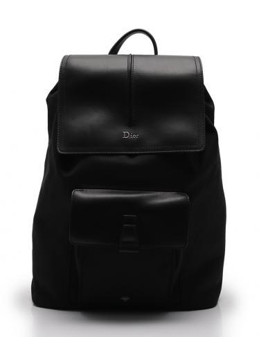 buy popular 31b3c ce3ce Dior HOMME(ディオールオム)リュック バックパック レザー ナイロン 黒|中古ブランド通販のRECLO