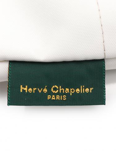 Herve Chapelier・バッグ・ナイロン舟型ショルダーL トートバッグ ナイロン アイボリー ライトグレー
