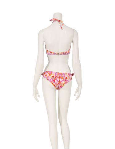 EMILIO PUCCI・スーツ・ 水着 ビキニ スイムウェア ナイロン ピンク オレンジ  白
