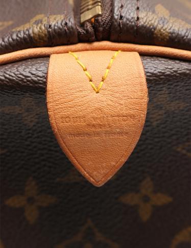 LOUIS VUITTON・バッグ・キーポル60 モノグラム ボストンバッグ PVC レザー 茶