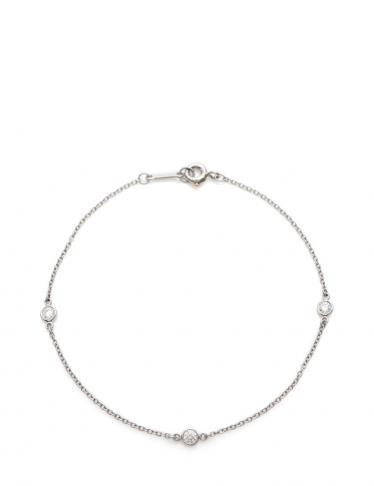 purchase cheap eb62e 2424d TIFFANY & Co.(ティファニー)バイザヤード ブレスレット Pt950 ダイヤモンド プラチナ 3Pダイヤ|中古ブランド通販のRECLO