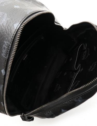 MCM・バッグ・ヴィセトス バックパック リュック コーティングキャンバス 黒 グレー スタッズ