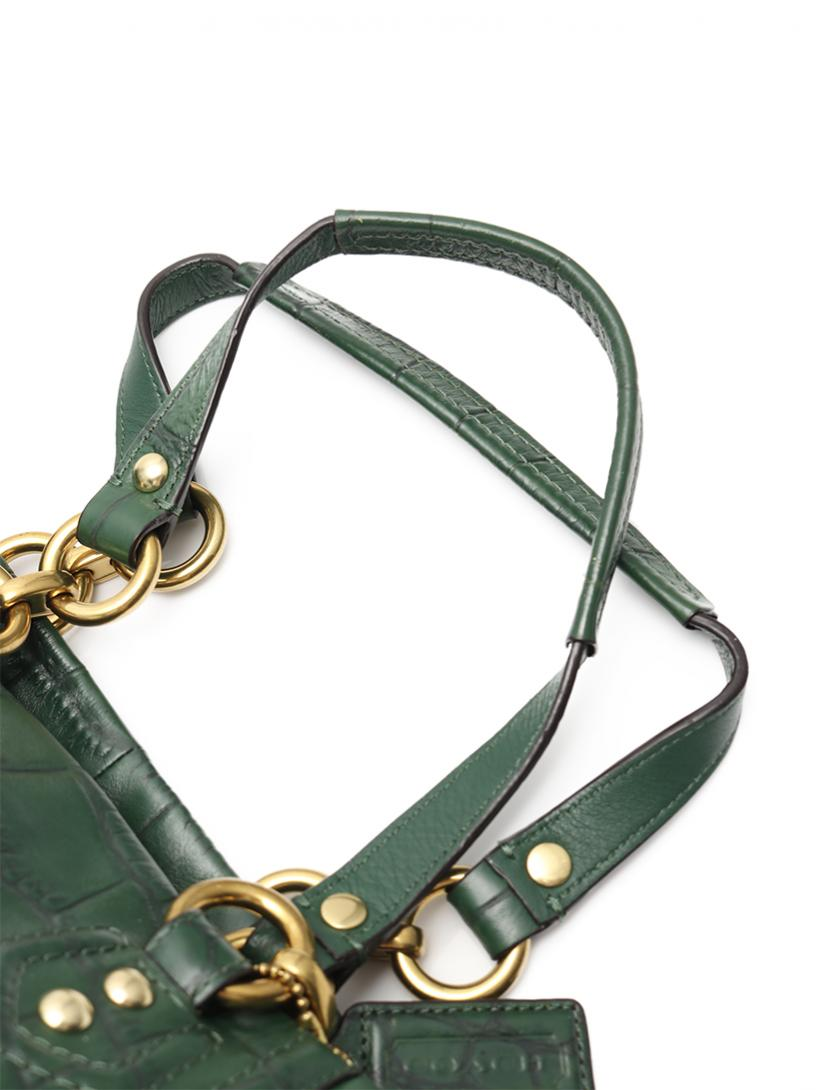 COACH・バッグ・アシュレイ トートバッグ レザー 緑 型押し