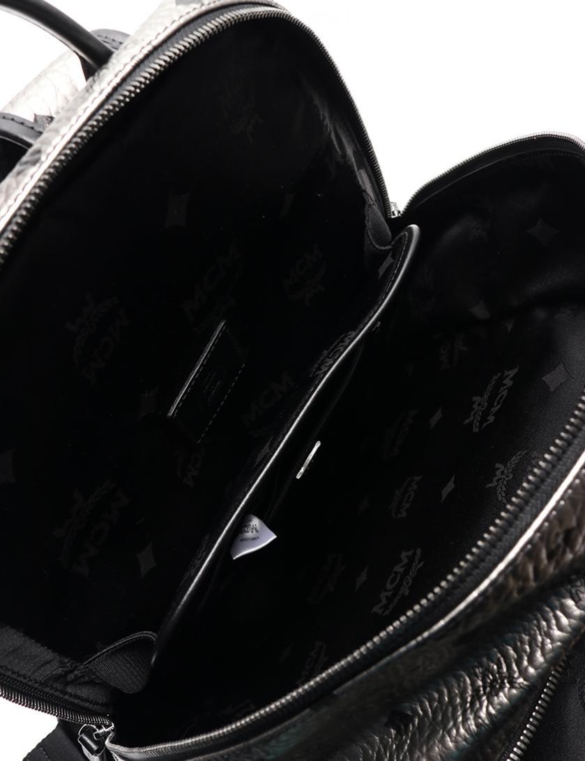 MCM・バッグ・ バックパック PVC レザー シルバー 黒