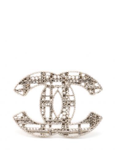e3816a5d9117 CHANEL(シャネル)チェーンチェック CCマーク ブローチ 中古ブランド通販のRECLO