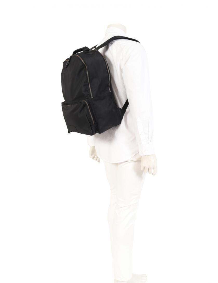 Calvin Klein PLATINUM・バッグ・ バックパック ナイロン レザー 黒