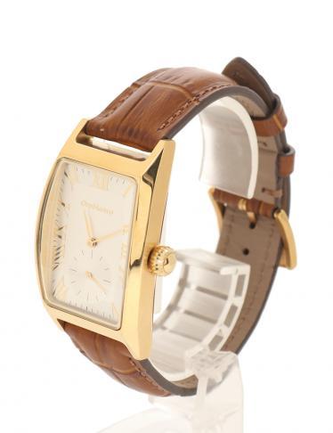Orobianco・時計・デルノンノ メンズ 腕時計 クオーツ レザー ゴールド 茶