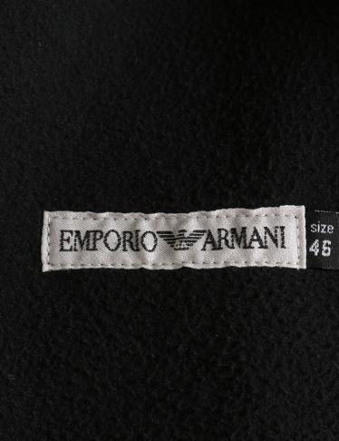 EMPORIO ARMANI・アウター・ コート レザー 黒