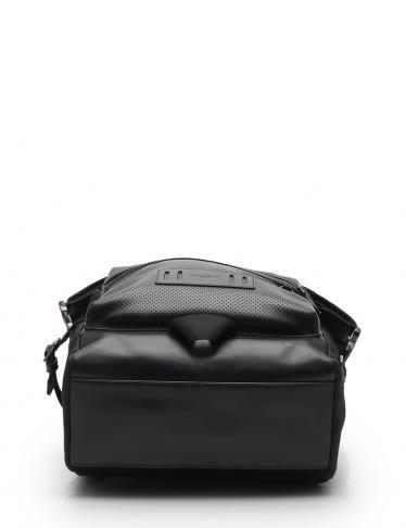 COACH・バッグ・ミックスド マテリアル テレイン ロール トップ バックパック ナイロン レザー 黒
