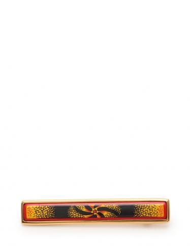 HERMES・アクセサリー・エマイユ ブローチ 七宝 赤 マルチカラー