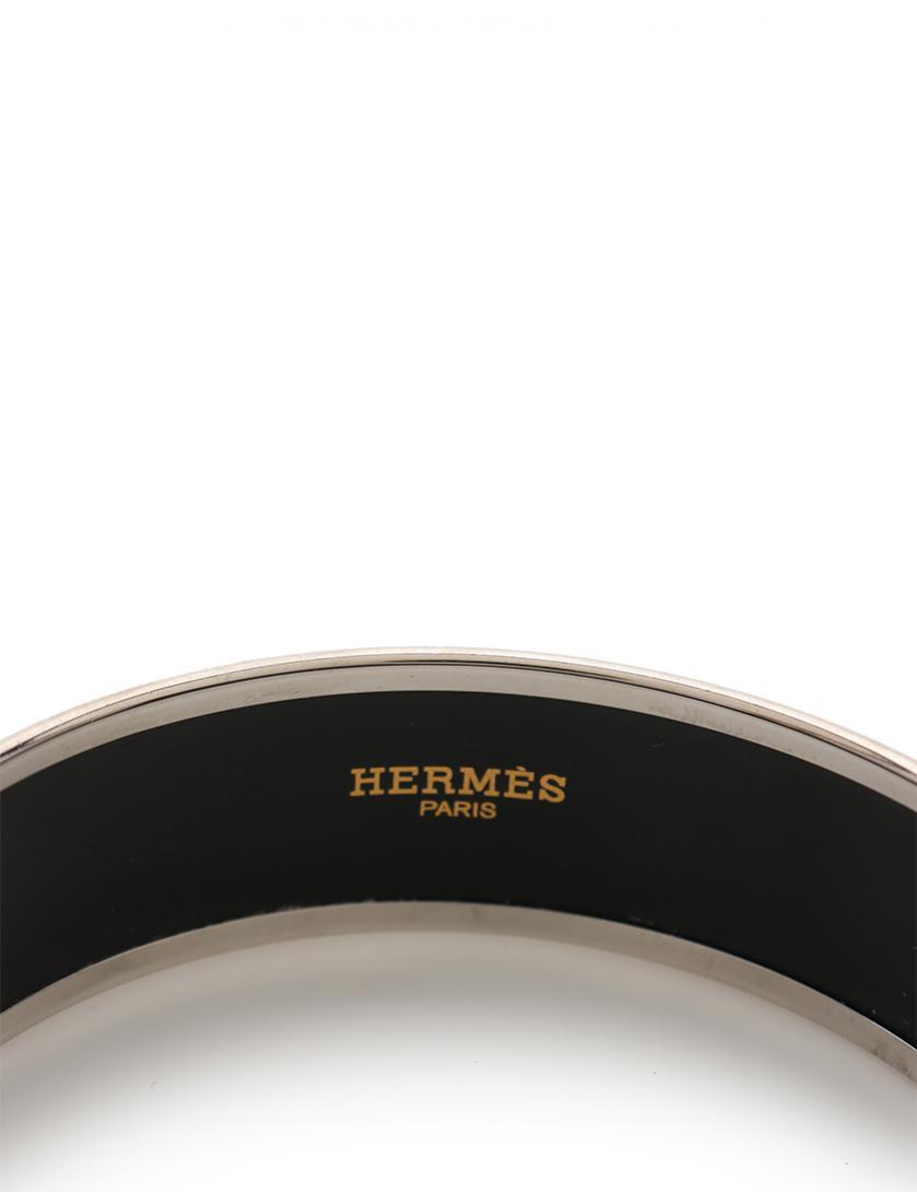 HERMES・アクセサリー・エマイユGM ガダルキヴィール ブレスレット・バングル 七宝 シルバー 黒 白