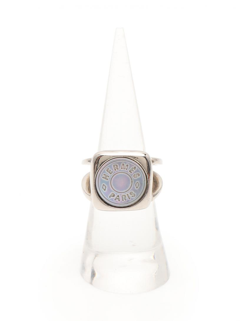 HERMES・アクセサリー・セリエ リング 指輪 シェル シルバー