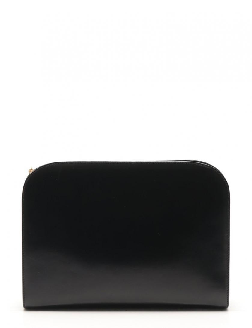 Salvatore Ferragamo・バッグ・ガンチーニ チェーンショルダーバッグ レザー 黒