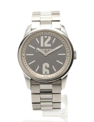 BVLGARI・時計・ソロテンポ メンズ 腕時計 クオーツ SS シルバー グレー文字盤
