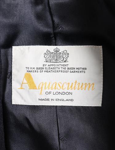 Aquascutum・アウター・ コート ウール ネイビー
