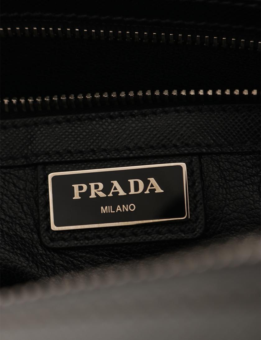 PRADA・バッグ・ ビジネスバッグ ブリーフケース サフィアーノレザー グレー 2WAY