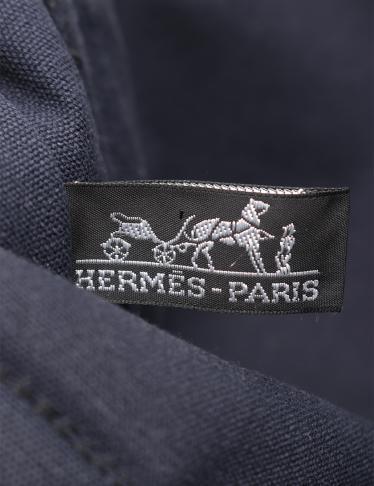 HERMES・バッグ・フールトゥMM トートバッグ キャンバス ダークネイビー 黒