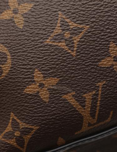 LOUIS VUITTON・バッグ・ジョッシュ モノグラム マカサー リュックサック バックパック PVC レザー 茶