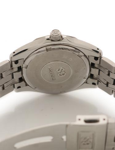 SEIKO・時計・グランドセイコー メンズ 腕時計 クオーツ SS シルバー 黒文字盤