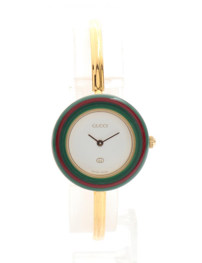 GUCCI・時計・チェンジベゼルウォッチ レディース 腕時計 クオーツ ゴールド