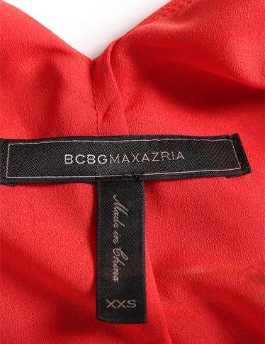 BCBG MAXAZRIA・ワンピース・Shana ハイロードレス ワンピース ノースリーブ 赤