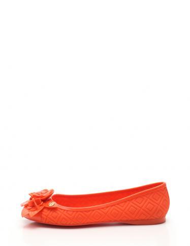 TORY BURCH・シューズ・BLOSSOM JELLY BALLET バレエシューズ フラットシューズ ラバー オレンジ