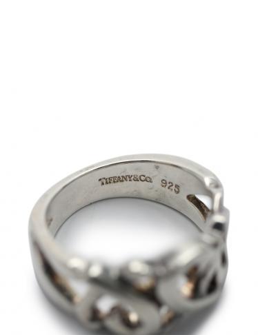 TIFFANY & Co.・アクセサリー・トリプルラビングハート リング 指輪 SV925 シルバー