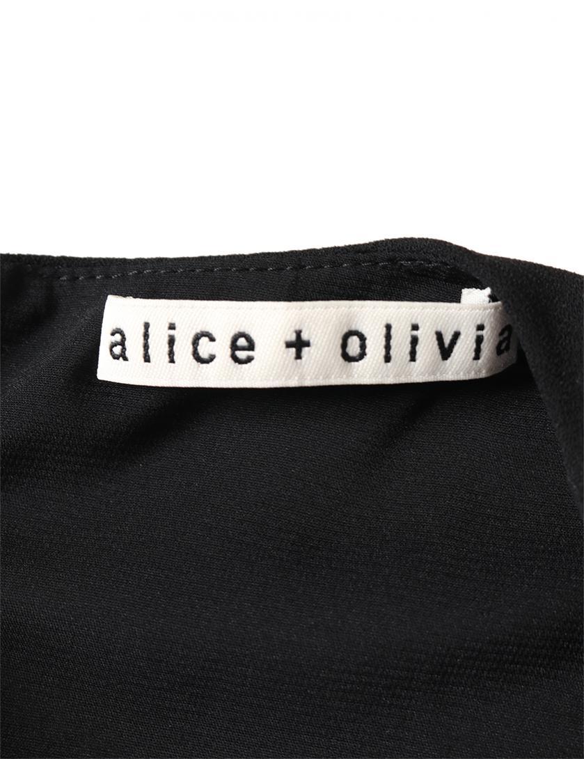 Alice + Olivia・ワンピース・ ワンピース ノースリーブ 黒 リボン