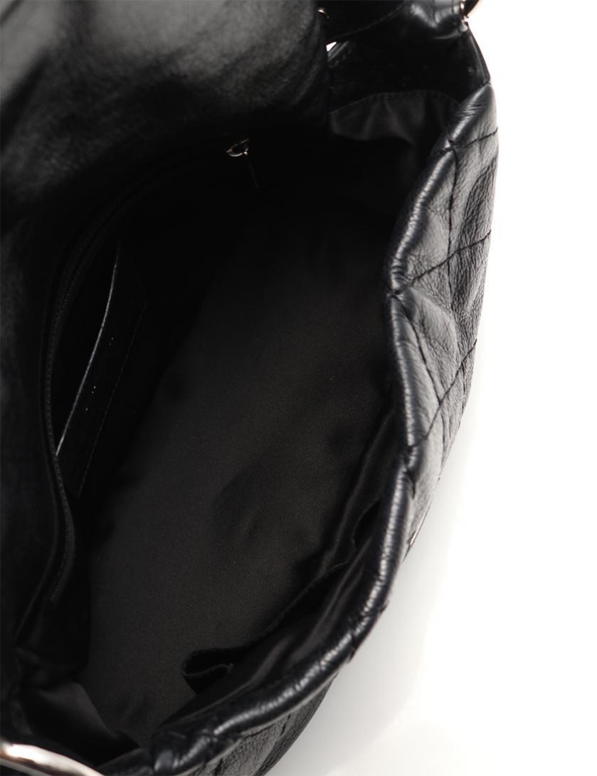 CHANEL・バッグ・マトラッセ ココマーク ショルダーバッグ ヴィンテージレザー 黒 シルバー金具
