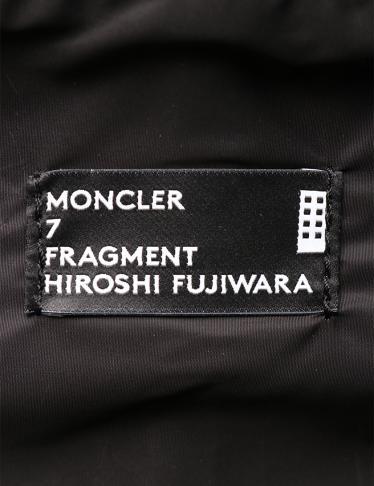 MONCLER・バッグ・MONCLER GENIUS 7 MONCLER FRAGMENT HIROSHI FUJIWARA バックパック リュック スエード 黒 2018シーズン