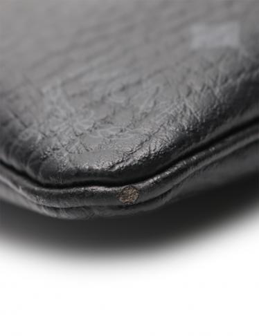 MCM・バッグ・VISETOS スターク ヴィセトス リストレットポーチ クラッチバッグ PVC レザー 黒