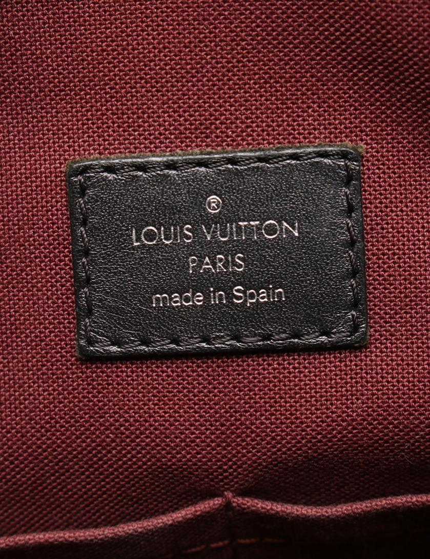 LOUIS VUITTON・バッグ・モノグラムマカサー 7DW ビジネスバッグ PVC レザー 茶 黒
