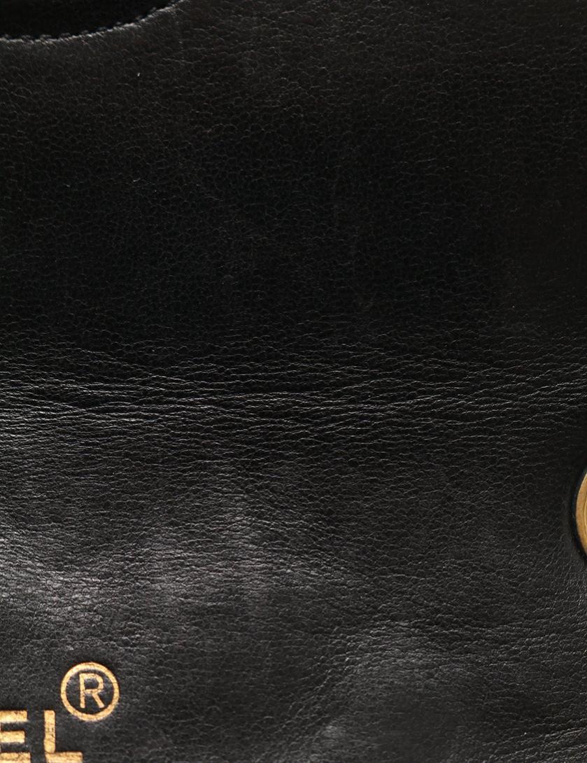 CHANEL・バッグ・マトラッセ ココマーク フルフラップ チェーンショルダーバッグ ラムスキン 黒 ゴールド金具