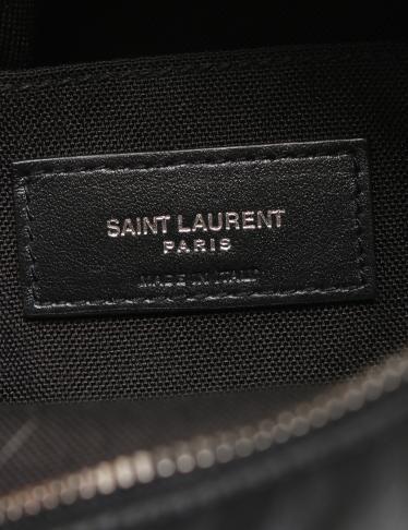SAINT LAURENT PARIS・バッグ・RIVINGTON リビングトン ポーチ ショルダーバッグ レザー 黒