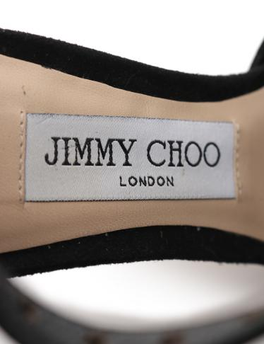 JIMMY CHOO・シューズ・LANA パンプス スエード 黒 スター