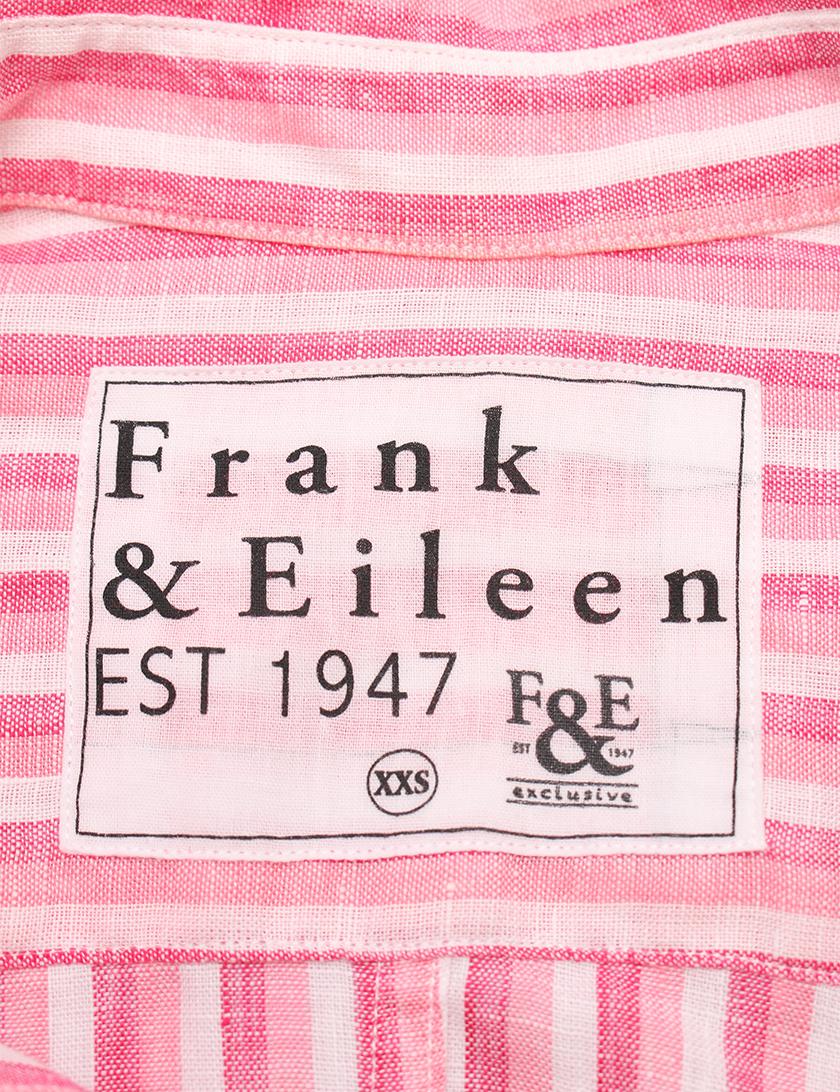 Frank&Eileen・トップス・BARRY ブラウス シャツ ストライプ 麻 ピンク 白