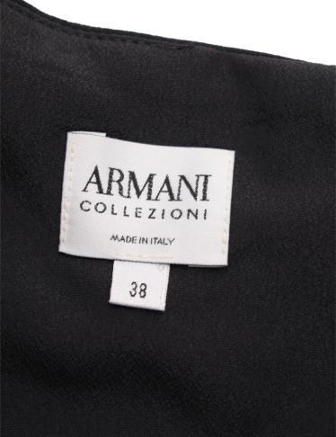 Armani Collezioni・ワンピース・ ワンピース 黒 グレー ネイビー ティアード