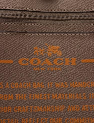 COACH・バッグ・クロスグレーン シティ トートバッグ レザー オレンジ
