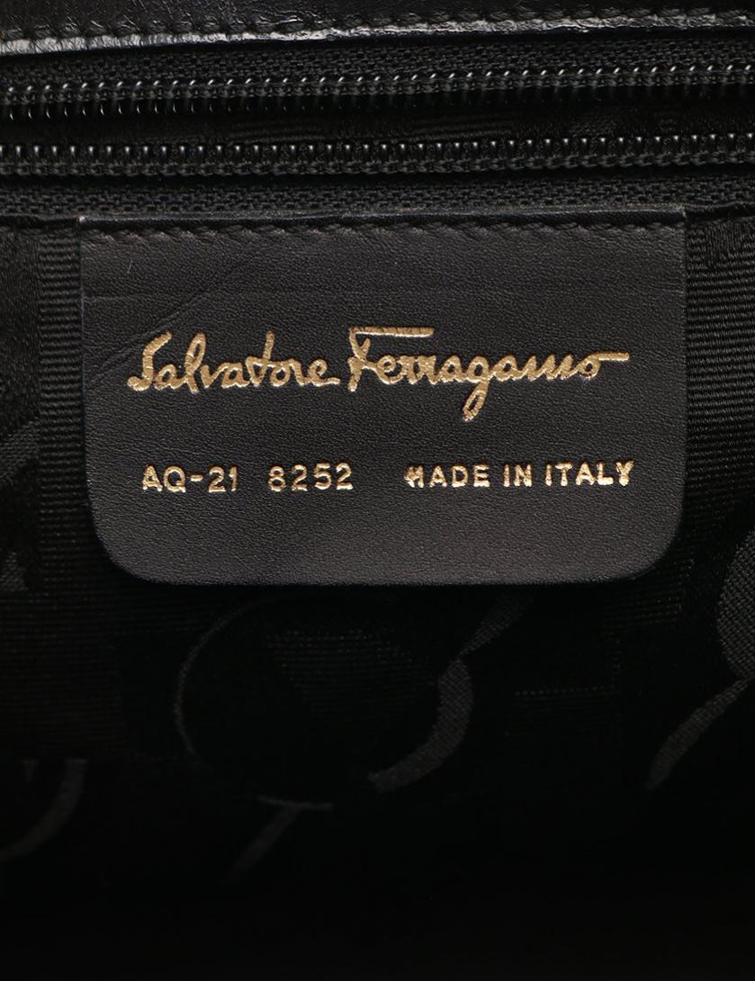 Salvatore Ferragamo・バッグ・ヴァラ ハンドバッグ レザー 黒 2WAY